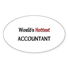World's Hottest Accountant Oval Decal