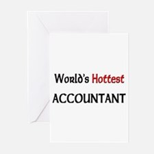 World's Hottest Accountant Greeting Cards (Pk of 1