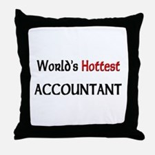 World's Hottest Accountant Throw Pillow