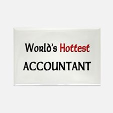 World's Hottest Accountant Rectangle Magnet