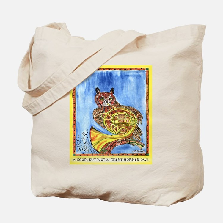 Not a Great Horned Owl Tote Bag