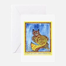 Not a Great Horned Owl Greeting Card