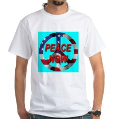 Peace Symbol American Flag on Shirt