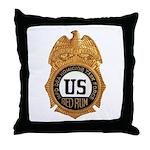 Redrum Homicide Throw Pillow