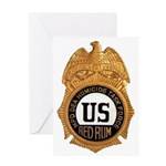 Redrum Homicide Greeting Card