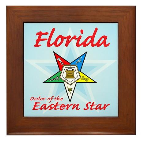 Florida Eastern Star Framed Tile