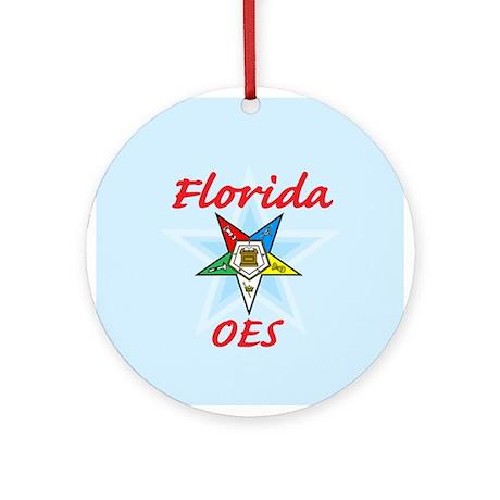 Florida Eastern Star Ornament (Round)