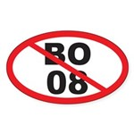 NO BO 08 Oval Sticker (10 pk)