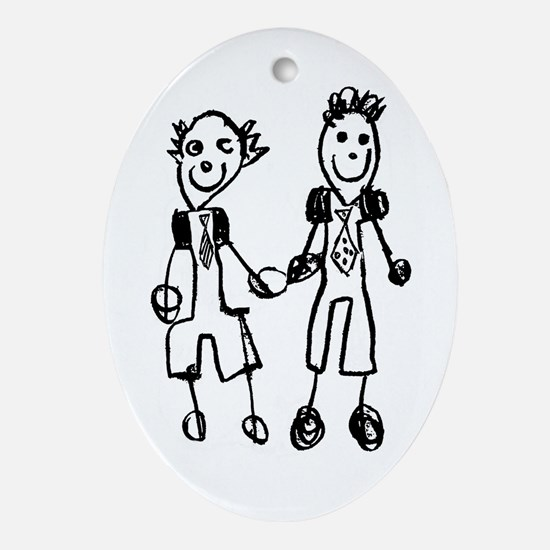Two Grooms Holiday Ornament