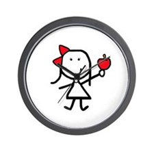 Girl & Apple Wall Clock