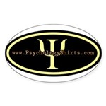 Psych Logo 1 Oval Sticker
