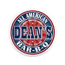 """Dean's All American BBQ 3.5"""" Button"""