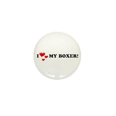 I Love My Boxer Mini Button (100 pack)