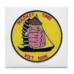 Vietnam Market Time Tile Coaster