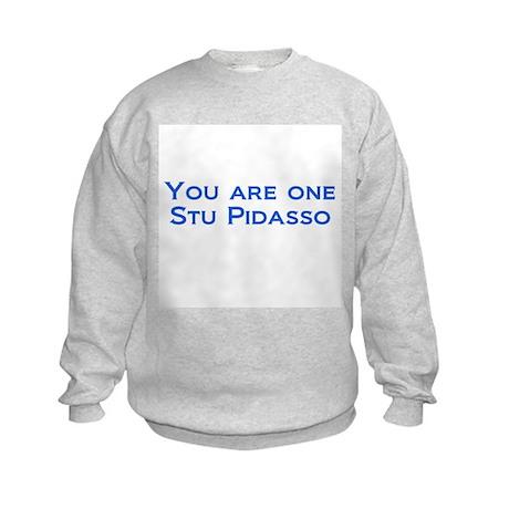 Stu Pidasso 2 Kids Sweatshirt