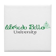 Ahmadu Bello Banner and Crest Tile Coaster