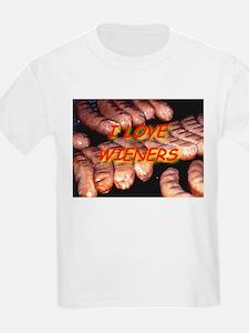 I Love Wieners Kids T-Shirt