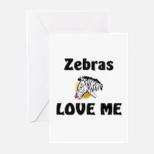 Zebras Loves Me Greeting Cards (Pk of 10)
