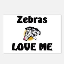 Zebras Loves Me Postcards (Package of 8)