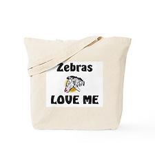 Zebras Loves Me Tote Bag