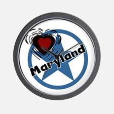 Love Maryland Wall Clock