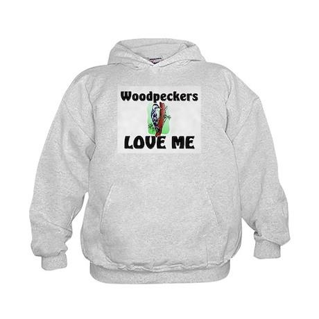 Woodpeckers Loves Me Kids Hoodie