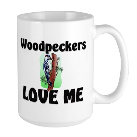 Woodpeckers Loves Me Large Mug