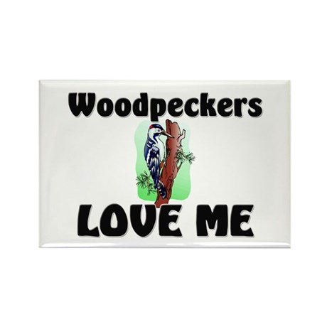 Woodpeckers Loves Me Rectangle Magnet (10 pack)