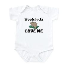 Woodchucks Loves Me Infant Bodysuit