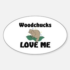 Woodchucks Loves Me Oval Decal