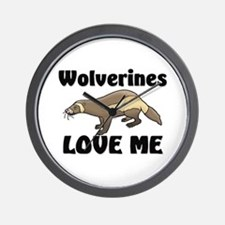 Wolverines Loves Me Wall Clock