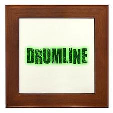 Drumline Green Framed Tile