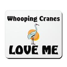 Whooping Cranes Love Me Mousepad