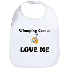 Whooping Cranes Love Me Bib