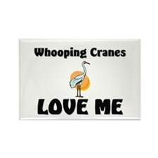 Whooping Cranes Love Me Rectangle Magnet
