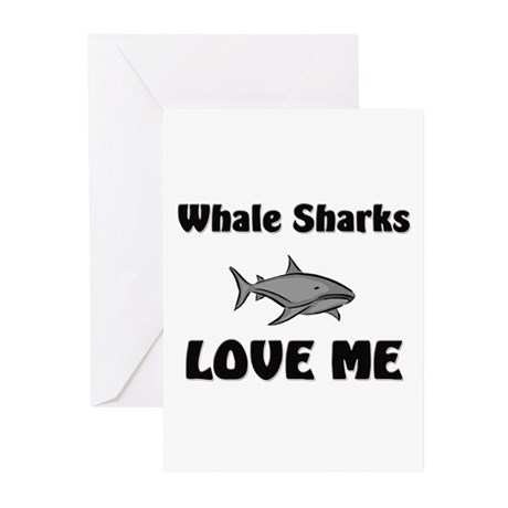 Whale Sharks Love Me Greeting Cards (Pk of 10)