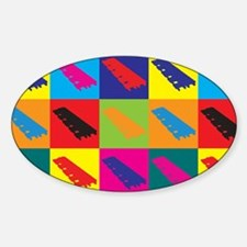Xylophone Pop Art Oval Decal