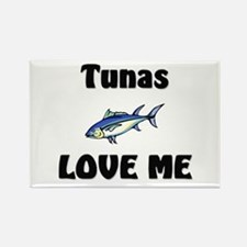 Tunas Love Me Rectangle Magnet