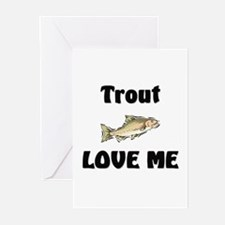 Trout Love Me Greeting Cards (Pk of 10)