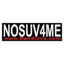 NOSUV4ME Bumper Bumper Sticker