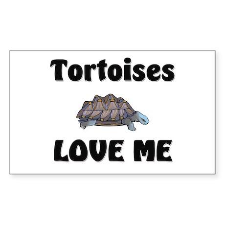 Tortoises Love Me Rectangle Sticker