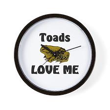 Toads Love Me Wall Clock