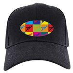 Woodworking Pop Art Black Cap