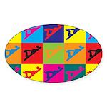 Woodworking Pop Art Oval Sticker (10 pk)