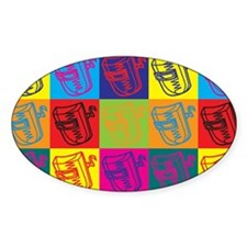 Welding Pop Art Oval Decal