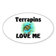 Terrapins Love Me Oval Decal