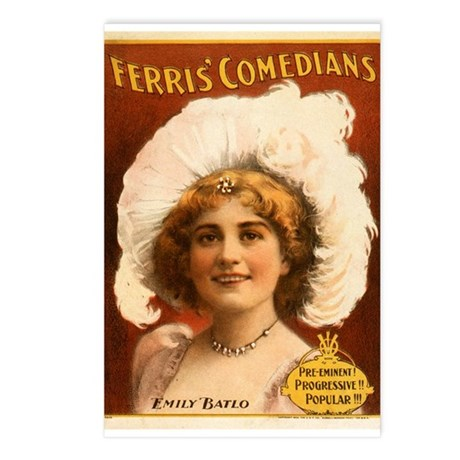 Ferris Comedians Postcards (Package of 8)