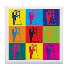 Weddings Pop Art Tile Coaster