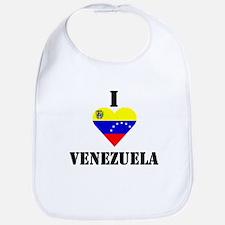 I Love Venezuela Bib