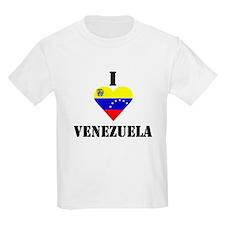 I Love Venezuela Kids T-Shirt